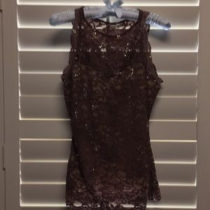 Glamorous lace and sequins